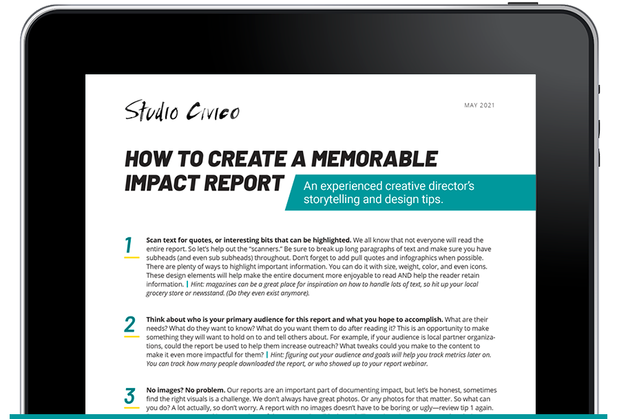 how to create a memorable impact report