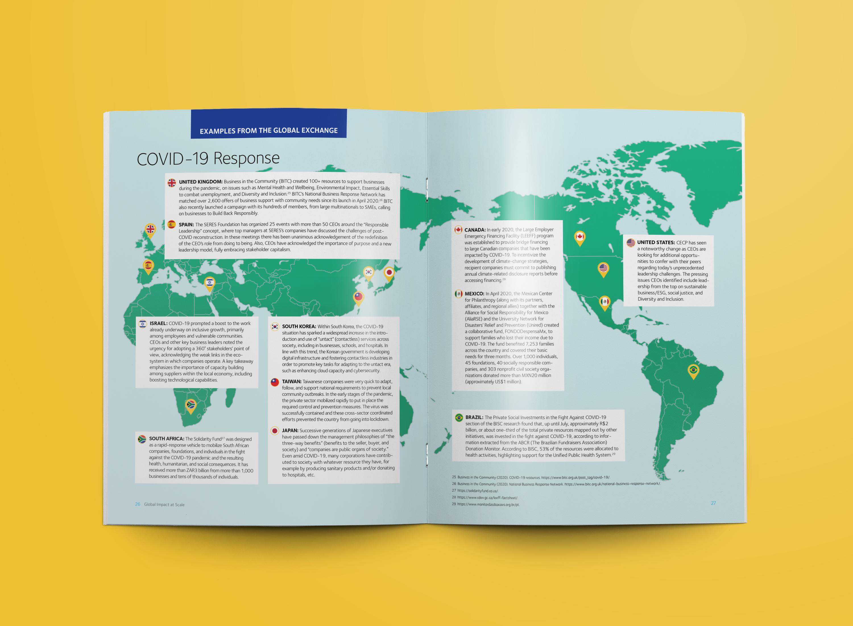 nonprofit report map design