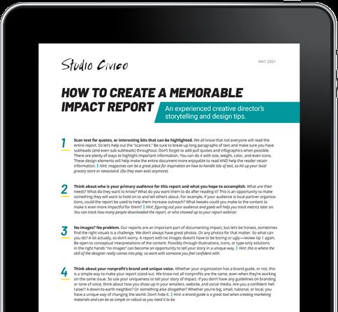 nonprofit report design